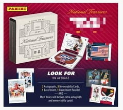 2019 Panini National Treasures Football Hobby Box - $1,399.99