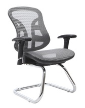 "The Exeter Ergonomic Executive Mesh Guest Chair, 39""H x 24.5""W x 26""D, S... - $185.00"
