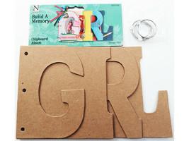 "Nicole Crafts Build a Memory ""GIRL"" Chipboard Album #MEM5408"