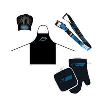 NFL Carolina Panthers Chef Hat, Apron, Oven Mitt Pot Holder and Lanyard BBQ Set - $31.19