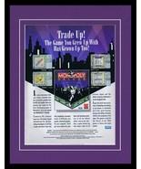 1993 Monopoly Deluxe Board Game 11x14 Framed ORIGINAL Vintage Advertisement - $34.64