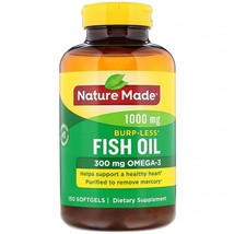Nature Made, Fish Oil, Burp-Less, 1,000 mg, 150 Softgels - $29.97