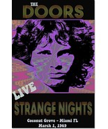 The Doors 1969 Strange Nights Concert Vintage Music Poster Reproduction - $31.99+