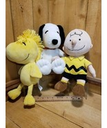 Kohl's Cares For Kids Peanuts Snoopy,Charlie Brown and Woodstock Stuffed Animals - $34.84