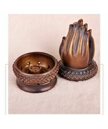 Folded Hands Buddha Censer Burner Meditation Yoga Oriental Ceramic Home ... - $48.30