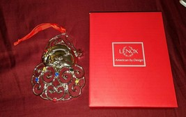 Lenox Santa Ornament Sparkle and Scroll Multi-Crystal Silverplated 85132... - $8.00