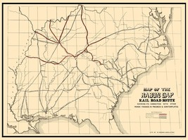 Rabun Gap Railroad - Keenan 1850 - 23 x 30.86 - $36.95+