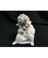 lladro Angel Thinking Matte Finish - $38.53
