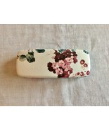 Eyeglass Case White With Flower Hard Shell Pre Owned #O - $7.88
