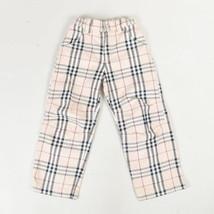 """KIDS Burberry Beige Multicolor """"Nova Check"""" Plaid Straight Leg Pants SZ 5T - $80.00"""