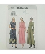 Butterick Sewing Pattern 3601 Misses' DRESS, A-Line, Front Tucks, Easy, ... - $14.26