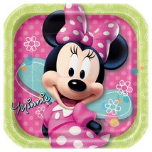 Unique Square Minnie Mouse Dessert Plates, 8-Count - $9.79