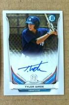 Tyler Wade RC 2014 Bowman Chrome Rookie Autograph Auto PSA10?Yankees 2B ... - $39.59