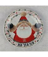 """Ho Ho Ho Santa Christmas Decorative Plate 8"""" - $16.82"""