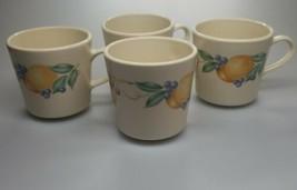 Corning Ware Corelle Abundance Coffee Cups Mugs Set of 4 Fruit Pattern - $10.99