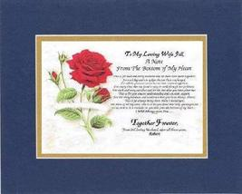 Personalized Touching and Heartfelt Poem for Loving Partners - A Note Fr... - $22.72