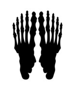 LiteMark 9 Inch Black Removable Skeleton Footprints Decal Stickers for F... - $19.95