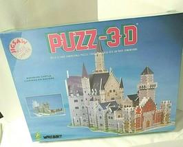 """Wrebbit PUZZ-3D NEW Bavarian Castle Puzzle SEALED 1000 pieces 3-D 13""""W 22""""D 16""""H - $26.68"""