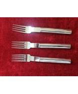 "Boda Nova Oval Steel Glossy Set of 3 Salad forks 6 1/2""  Korea - $73.25"