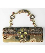 MARY FRANCES PURSE POCKETBOOK HAND BAG CLUTCH HAND BEADED EMBROIDERED SILK  - $125.00