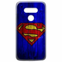 For LG V40 ThinQ / V50 ThinQ Case Cover Superman Wood Blue - $22.00