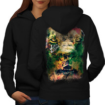 Lion Zion Cat Face Sweatshirt Hoody Iron Rasta Women Hoodie Back - $21.99+