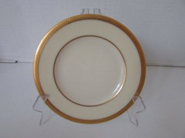 "LENOX CHINA 6-3/8"" BREAD & BUTTER PLATE GOLD ENCRUSTED BENNINGTON MADE I... - $4.90"