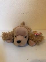 "Beanie Baby Spunky the Dog 9"" PVC 5th gen Hang 6th Tush Canadian Fareham... - $22.28"