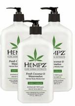 Hempz Fresh Coconut & Watermelon Herbal Body Moisturizer 3 pack 17 oz. Gift Set - $37.36