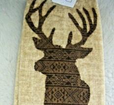 Kitchen Bath Hand Towel Deer 10 Point Buck Farmhouse Rustic Log Cabin Decor New - $12.86