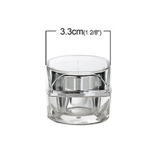 Make Up Cream Jars Container Empty Cosmetic Sample Travel Acrylic 5g - $2.99