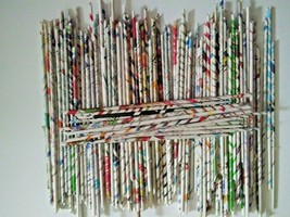 Newspaper Tubes for Crafts 10.5 IN LONG Handmade 400 - $60.00