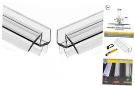 "2-Pack  Frameless Shower Door Bottom Seal with Drip Rail - 1/4"" x 36"" Sw... - $40.73"