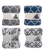 NEW MONTE & JARDIN Luxury Collection Ultra Plush Throw Soft Warm Modern Blanket  - $49.99