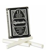 ALPHACOLOR WHITE CHALK, LOW-DUST, 12 STICKS/PACK(Bundle QTY 2) - $14.85