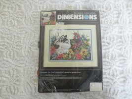 """Dimensions Hiding In The Garden No Count Cross Stitch Sealed Kit #39004-12"""" X 9"""" - $9.90"""
