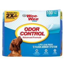 """Four Paws Wee-Wee Odor Control Pads 100 count White 22"""" x 23"""" x 0.1"""" - $32.99"""