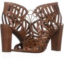 Jessica Simpson Emagine Lace Up Sandals 003, Burnt Umber, 8.5 US / 38.5 EU - $42.23