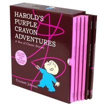 Harold'S Purple Crayon Adventures: 6 Picture Book Box Set By Crockett Jo... - $38.99