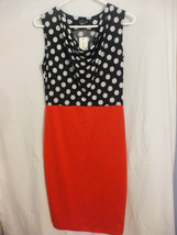 Fashion Mia Sleeveless Red And Black Dress Size Small 100% polyester - $12.98