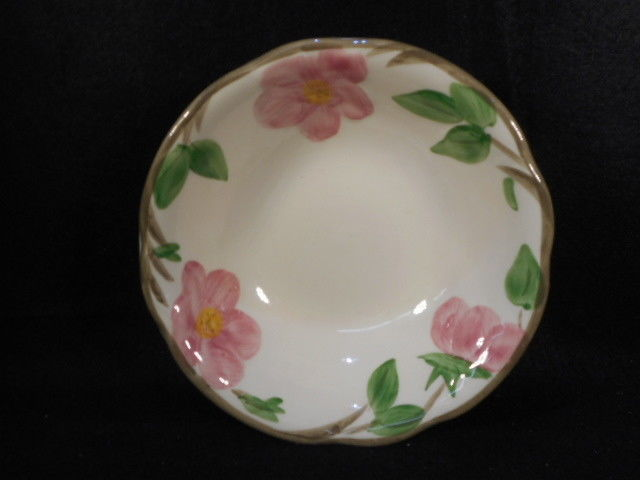 """Vintage Franciscan Dessert Rose 6"""" Cereal Soup Bowl England"""