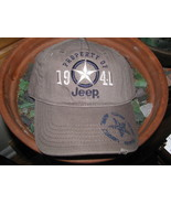Baseball Cap hat Property of Jeep 1941 Oil Can Grey Gray color - $29.65