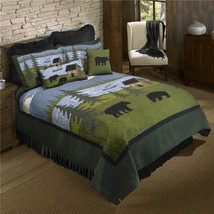 American Heritage Textiles Z83426 90 x 90 in. Bear River 3 Piece Cotton ... - $197.11