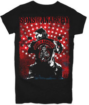 Soa Sons Of Anarchy Jax Poster USA Flagge Stars Skull Reaper Junior T-Shirt - $20.90