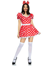 Red Polka Dot Dress w/Matching Headband Minnie Inspired Costume by Leg A... - $59.95