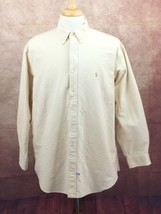 Polo Ralph Lauren Yarmouth Button Down Long Sleeve Oxford Shirt Beige Me... - $14.80