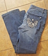 Nine West Bling Stretch Jeans Size 6/28 Medium Wash - $14.77