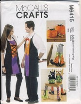 McCall's Patterns M6415 Aprons, Chair Decorations, Boots, Pumpkins, Cat and Owl, - $7.41