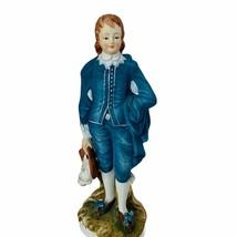 Lefton Figurine vtg Japan antique porcelain Limited Edition Boy Blue Vic... - $48.33