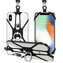 SHANSHUI Phone Lanyard, 2 in 1 Detachable Neck Strap Silicone Holder (Bl... - $16.08